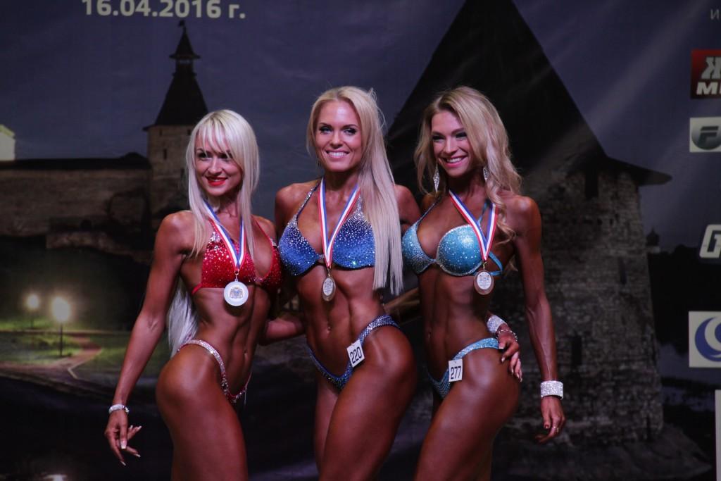 Фитнес-бикини 172+: 1 место Трифанова Наталья(220), 2 место - Аксенова Елена (202), 3 место - Богатырь Ольга (277)